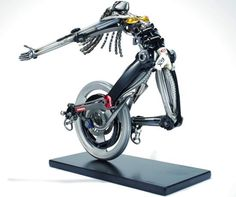 Sculptures made from upcycled bike parts to hit auction block   Eco Friend