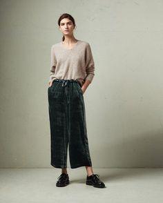 Silk Velvet Drawstring Trouser