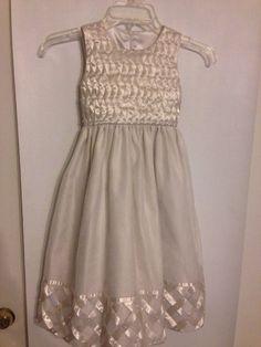 Cinderella dress size 6X white with ribbon & pearls detailing beautiful wedding #Cinderella #ChurchDressyEverydayHolidayPageantWedding