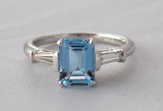 1.5ct Fine Aquamarine and diamond ring