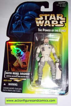 star wars action figures HOTH REBEL SOLDIER power of the force 1996 hasbro toys moc mip mib