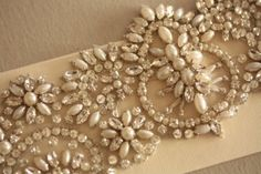 New! Millie Icaro Handmade Crystal/pearl Bridal Sash- Pd $329!, 25% off | Recycled Bride