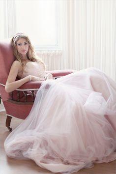 blush pink wedding dress for Sally x Blush Pink Wedding Dress, Blush Pink Weddings, White Wedding Dresses, Wedding Gowns, Pink Accents, Wedding Planner, Destination Wedding, Dream Wedding, Wedding Stuff