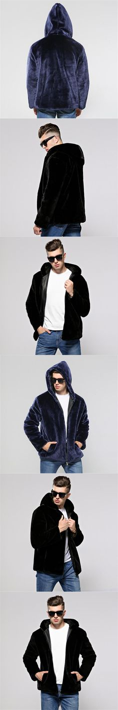 KERUISHU 2017 Winter New Male Loose Luxury Mink Coat High Quality Men Short Leather Fur Coats Jackets Man Faux Fur Coat S-4XL K5