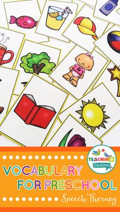 Vocabulary Activities for Preschool Students in Speech - Vocabulary Activities for Preschool – This is suitable for non readers in preK Kindergarten and 1 - Preschool Speech Therapy, Preschool Art Activities, Preschool Special Education, Art Therapy Activities, Vocabulary Activities, Speech Language Therapy, Speech Therapy Activities, Speech And Language, Daycare Curriculum