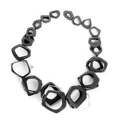 "Isabelle Hertzeisen Necklace: Réticules, 2010 Silver 925, Polyolefin Project: ""Bichromie"", 2010"