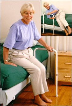 Bed Rail and Cane - Smart to use in nursing homes or long-term care facilities BUT also in regular homes for kids or adults with disabilities.