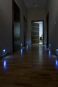 Blue color of light of Skoff Tango makes a very interesting effect in dark corridors.