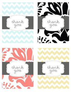 free thank you note printables
