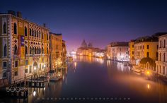 Canal Grande in pre-dawn light by Dag Ole Nordhaug (Venice, Italy)