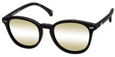 LeSpecs Bandwagon Sunglasses in LSP1602190 Black Rubber Exclusive / Gold Revo Mirror