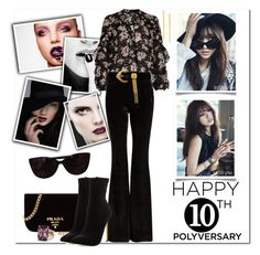 """""""Celebrate Our 10th Polyversary! - A Little Velvet Crush"""" by msmith801 ❤ liked on Polyvore featuring River Island, Sans Souci, ESCADA, Prada, Neiman Marcus, Shin Choi, Lana, Ann Taylor and Tiffany & Co."""
