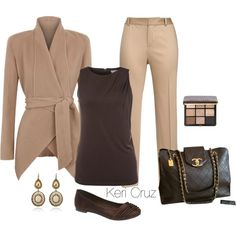 A fashion look from November 2014 featuring MICHAEL Michael Kors tops, Donna Karan jackets and Lauren Ralph Lauren capris. Browse and shop related looks.