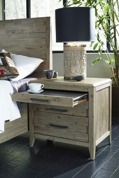 Harbourside 3 Drawer Nightstand | Casana Furniture | Home Gallery Stores
