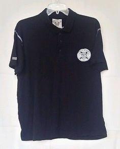 Blac Label Premium Men's Polo w/Patches  Sz L Graphic Shirt WE MUST SURVIVE