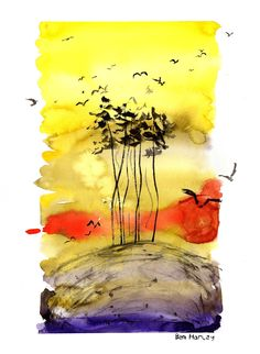 'Above It All' - Ink & Watercolour by Ben Harley