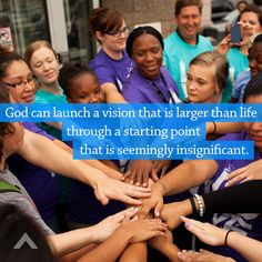 God can launch a vision that is larger than life through a starting point that is seemingly insignificant. www.elevationchurch.org