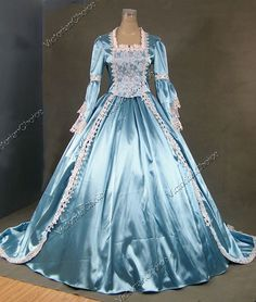Marie Antoinette Gothic Victorian Ball Gown Wedding Dress Reenactment Stage Costume