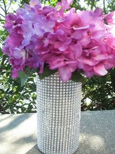 Bling Vase for Sweetheart Table, shot wedding with Bling vases all over Sweetheat table, georgous!