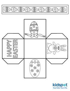 Easter Basket Template Printable Eggs Kids Egg Crafts For