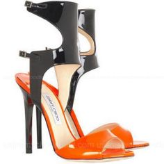 Jimmy Choo Loop Patent Leather Sandals - These would be a show stopper with that perfect LBD