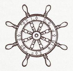 Nauticus - Ship's Wheel | Urban Threads: Unique and Awesome Embroidery Designs
