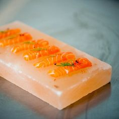 Himalayan salt blocks are a great way of preparing and serving food. The dusky pink slabs can be slowly heated or chilled to extremes, and hold their temperature for a long time due to the tight lattice of crystals. The blocks impart a delicate saltiness to the food served on them – with the presence of other minerals in the slab making the salty flavours complex and well-rounded.