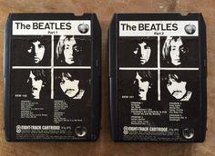 THE BEATLES - White Album - 8 Track Tape Cassette Set EX