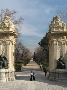 The Buen Retiro Park - Madrid, Spain. Built around 1505 under Queen Isabella I, the palace grounds were expanded by subsequent royalty to include with beautiful sculptures, monuments, galleries and a peaceful lake.