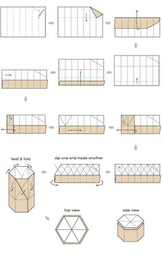 paper boxes origami | Paper Box | Hexagon Origami Boxes | basic lid instructions