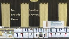 Mod The Sims: Curtain: 25 Eco Friendly Panel Recolours by Simmiller • Sims 4 Downloads