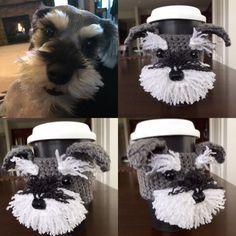 Schnauzer Mug Cozy, Dog Mug Cozy, Dog Cup, Dog Coffee Sleeve, Custom Dog Mug - pinned by pin4etsy.com