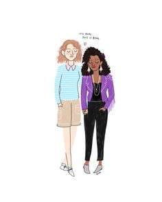 San Junipero Print  Hand-Illustrated by roaringsoftly on Etsy