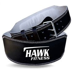 Hawk Fitness Leather Weight Lifting Belt Power Lifting Belt Lever Double Prong Single Gym Crossfit Training Black 1 YEAR WARRANTY Medium -- You can find out more details at the link of the image.