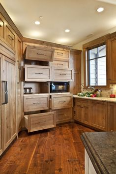 Great storage for your kitchen.  Home built by Cameo Homes Inc. in Park City, Utah.