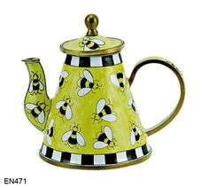 Photos Of Cats Product Enamel Teapot, Ceramic Teapots, Ways To Make Coffee, Pottery Lessons, Cafetiere, Teapots And Cups, Teacups, Mini Hands, Bee Art