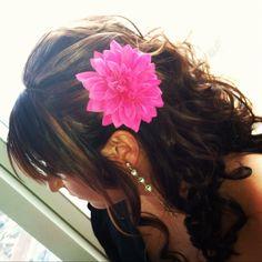 #Bridesmaid #Flower #Pink #Updo #Sidedo