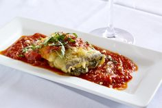 Bellisio's eggplant rolotini Italian Village, Eggplant, Lasagna, Italian Recipes, Potatoes, Vegetables, Ethnic Recipes, Food, Meal