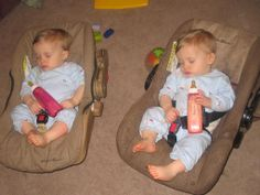 Identical Twin Baby Boys | month old identical twins, Grayson and Gavin.