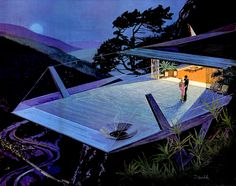 Motorola Future ads, 1961 - lots of glass and angular architecture - gorgeous!