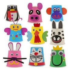 Paper cup crafts, plastic cup crafts и animal crafts. Plastic Cup Crafts, Paper Cup Crafts, Craft Stick Crafts, Preschool Crafts, Kids Crafts, Arts And Crafts, Paper Cups, Diy Paper, Plastic Cups
