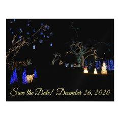 Winter Wonderland Lights Save the Date Magnetic Card - Xmas ChristmasEve Christmas Eve Christmas merry xmas family kids gifts holidays Santa