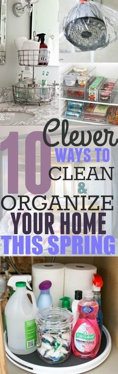These 10 cleaning and organizing hacks are GENIUS! You have to try them out in your home THIS SPRING! Pinning for later These 10 cleaning and organizing hacks are GENIUS! You have to try them out in your home THIS SPRING! Pinning for later House Cleaning Tips, Diy Cleaning Products, Cleaning Solutions, Deep Cleaning, Spring Cleaning, Cleaning Hacks, Cleaning Checklist, Cleaning Routines, Wall Cleaning