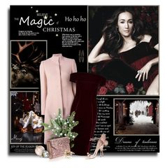 """""""The Night Before Christmas"""" by thewondersoffashion ❤ liked on Polyvore featuring Alexander McQueen, Coast, Jimmy Choo, Sophia Webster, Mattia Cielo and Marchesa"""