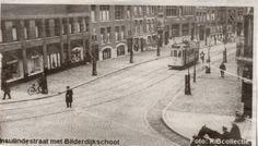 Insulindestraat met Bilderdijkschool en tram!