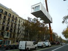 To Make More Space, They're Dropping Prefab Penthouses Onto Barcelona Rooftops