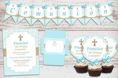 "Luxury printable Kit ""cross"" First communion confirmation baby decoration Party custom invitations s Shabby Chic Baby Shower, Baby Shower Fun, Fun Baby, Baby Showers, Digital Invitations, Custom Invitations, Birthday Party Decorations, Birthday Parties, Decoration Party"