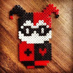 Harley Quinn hama perler beads by dpervil