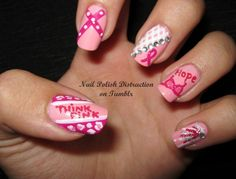 breast cancer nails...I think I will need this for the Susan G Komen walk :)