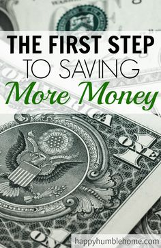 The First Step to Saving More Money!! This was so helpful! Now I know how to figure out where to start and I can really start saving! Must read!